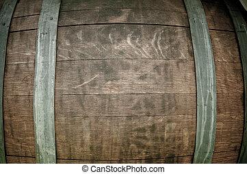 Wine Barrel Close Up