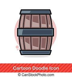 wine barrel doodle