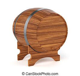 Wine barrel isolated