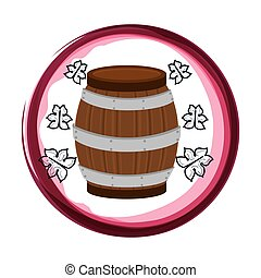 wine barrel isolated icon