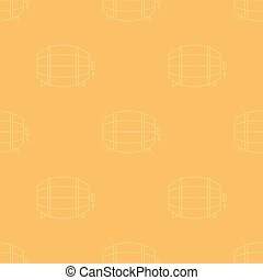 Wine barrel seamless pattern