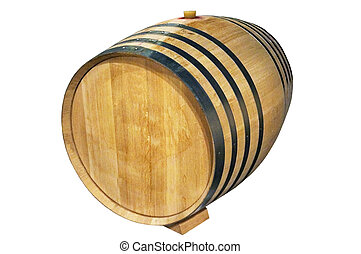 Wine barrel - wine barrel over white background