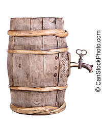 Wine barrel with faucet