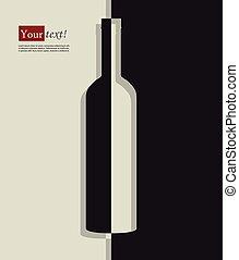 Wine bottle black