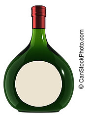 """Wine Bottle - boxed - This is a Wine Bottle - """"box"""" shape"""
