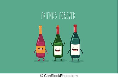 Wine bottle buddies
