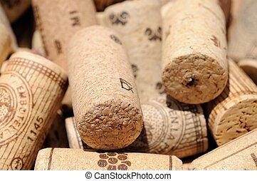Wine bottle corks.