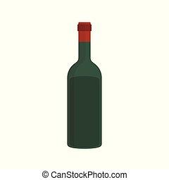 Wine bottle flat design icon