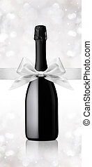 wine bottle gift with ribbon