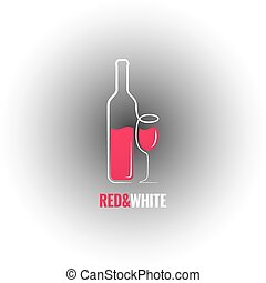 wine bottle glass design background