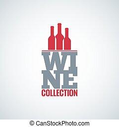 wine bottle glass design vector background
