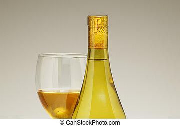 Wine Bottle & Glass