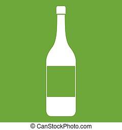 Wine bottle icon green