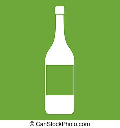 Wine bottle icon green
