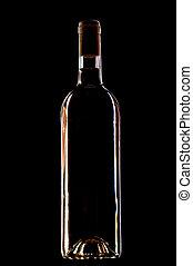wine bottle on black