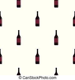 Wine bottle pattern seamless