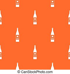 Wine bottle pattern seamless
