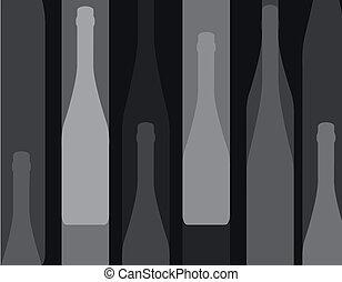 wine bottle silhouette black