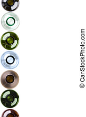 wine bottles as a background