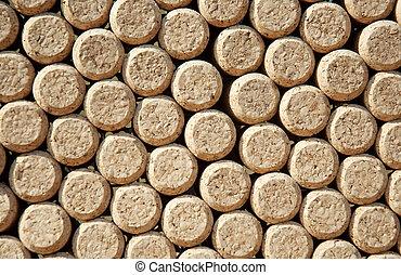 Wine bottles corks