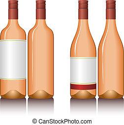 Wine Bottles - Illustration of wine bottles. Available in...