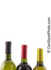 wine bottles isolated on white
