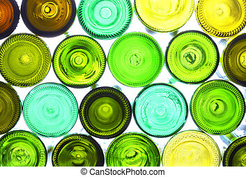 wine bottles - variety of empty wine bottles backlited