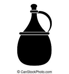 wine carafe cork icon pictogram