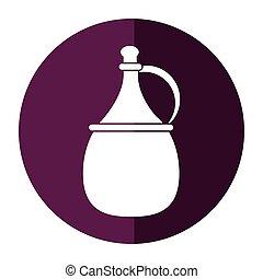 wine carafe cork icon shadow