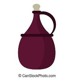 wine carafe cork icon