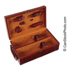 Wine case. Isolated