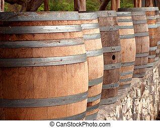 Wine Casks 2 - Close up of wine casks