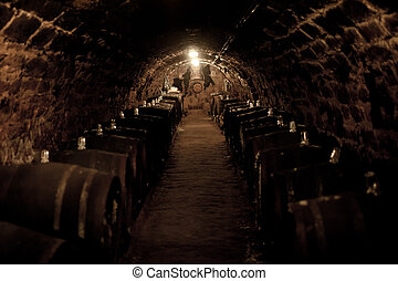 Wine cellar - An old cellar of a traditional wine producer ...