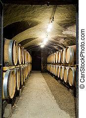 wine cellar, Burgundy, France