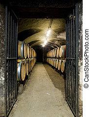 wine cellar, Burgundy, France - wine cellar, Buxy, Burgundy,...