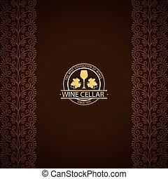 Wine cellar decorative card