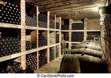 wine cellar - HDRI of a wine cave