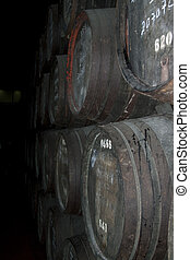 Wine cellar in Portugal for the aging of the wine Port