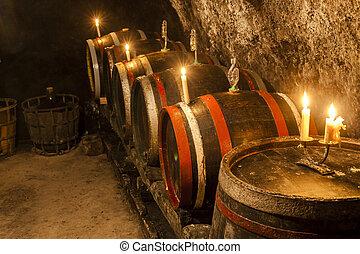 wine cellar in Velka Trna, Tokaj wine region, Slovakia
