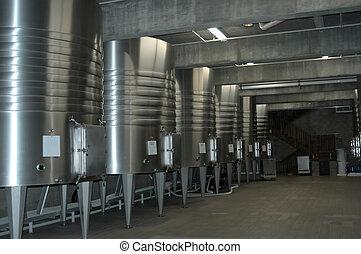 Wine cellar interior