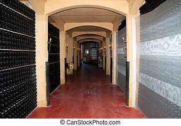 Wine cellar (Italy, Franciacorta)