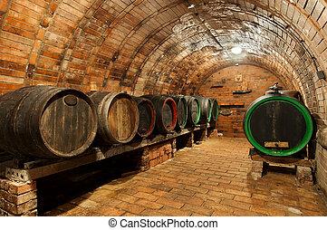Wine Cellar - Traditional small wine cellar, picture taken...