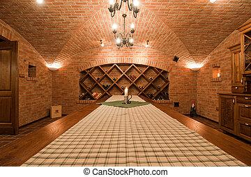 Wine Cellar Room - Modern wine cellar room interior