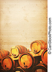 wine cellar background old and used look