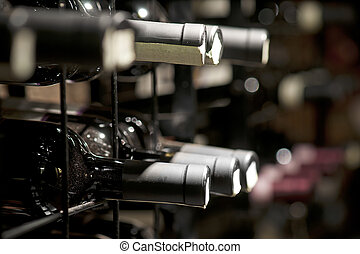 wine cellar - Detail from wine cellar with resting bottles