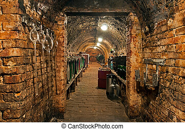 Wine Cellar - Traditional small wine cellar, picture taken...
