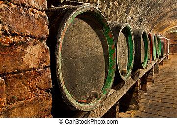 Wine Cellar - Traditional small wine cellar, picture taken ...