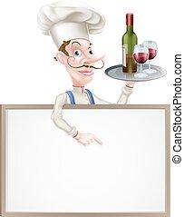 Wine Chef Sign