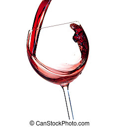 Wine collection - Red wine is poured into a glass