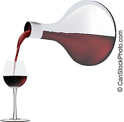 Pour the wine into the glass
